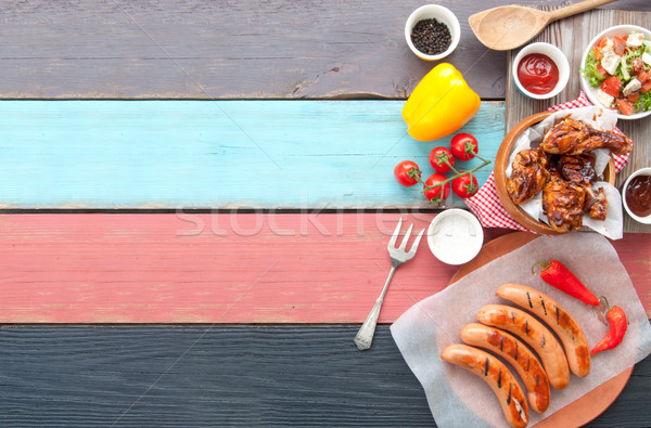 Barbecue meal background Stock photo © unikpix