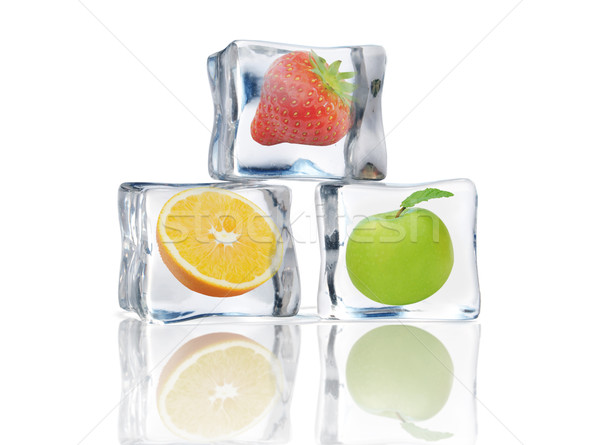 Fruit in ice cubes Stock photo © unikpix
