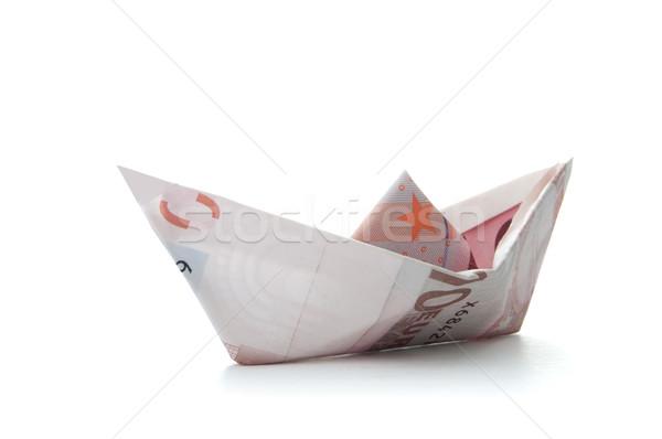 Euro paper boat  Stock photo © unikpix
