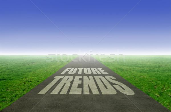 新しい トレンド 将来 オープン 道路 ストックフォト © unikpix