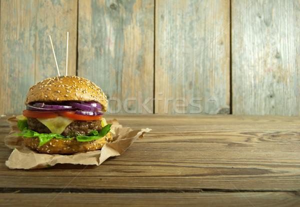 Hamburger with space  Stock photo © unikpix