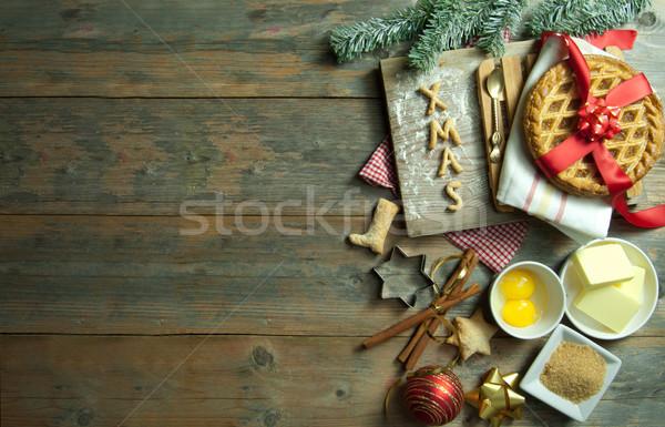 Christmas składniki przestrzeni drewna szczęśliwy Zdjęcia stock © unikpix