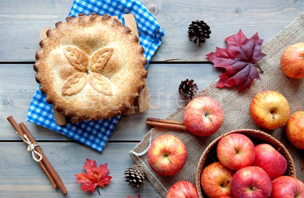 Stock photo: Apple pie