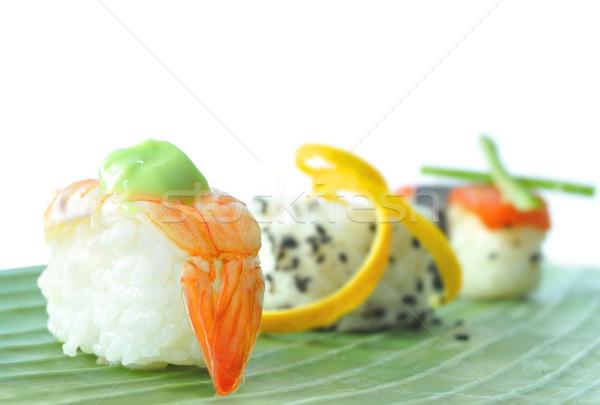 суши рыбы растительное банан Сток-фото © unikpix