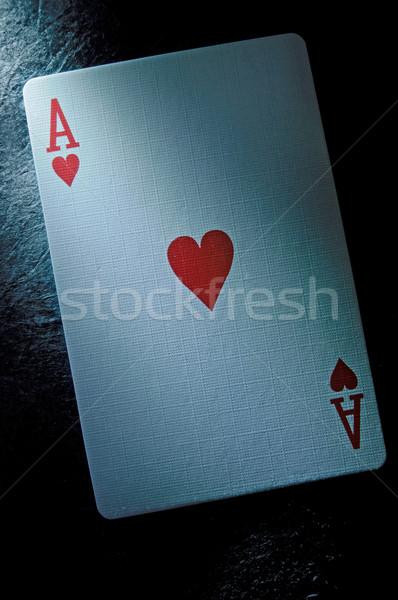 ás cartão corações jogar amor cassino Foto stock © unikpix