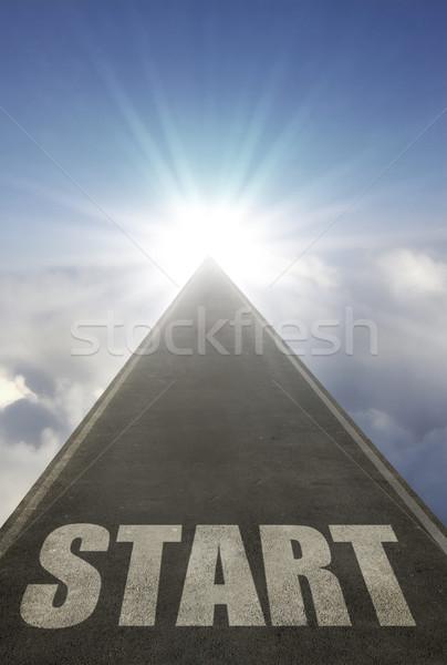 Start open road Stock photo © unikpix