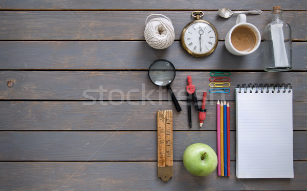 Stationery objects background Stock photo © unikpix