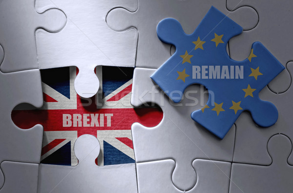 Brexit jigsaw puzzle concept  Stock photo © unikpix