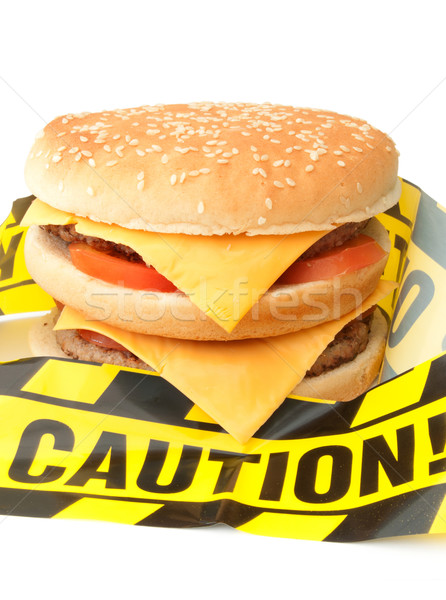 Fast food warning  Stock photo © unikpix