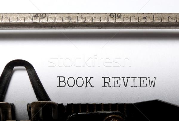 книга напечатанный Vintage машинку Сток-фото © unikpix