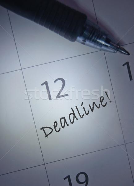 Deadline calendar entry Stock photo © unikpix