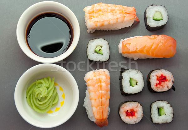 суши лосося овощей Сток-фото © unikpix