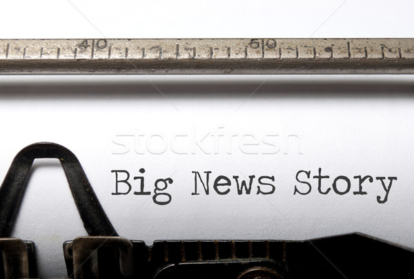 Big news story Stock photo © unikpix