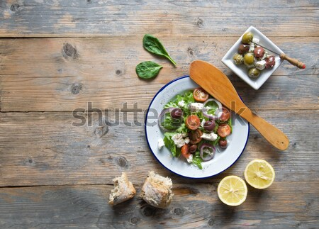 Greek salad with background space Stock photo © unikpix