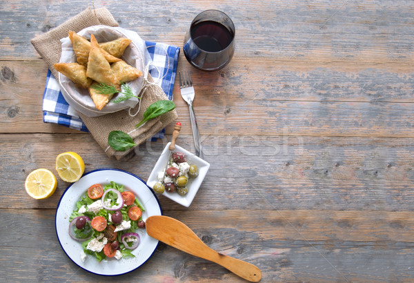 Greek food background Stock photo © unikpix
