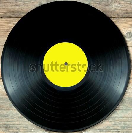 Vinyl record lp witte retro Stockfoto © unikpix