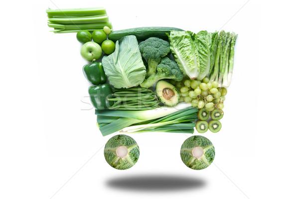 Green grocery shopping cart  Stock photo © unikpix