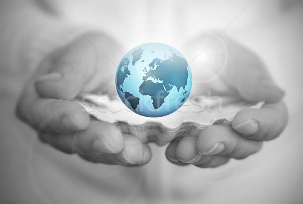 Мир устрица стороны оболочки земле Сток-фото © unikpix