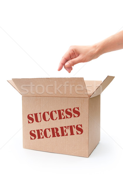 Succès secrets main boîte bras gagner Photo stock © unikpix