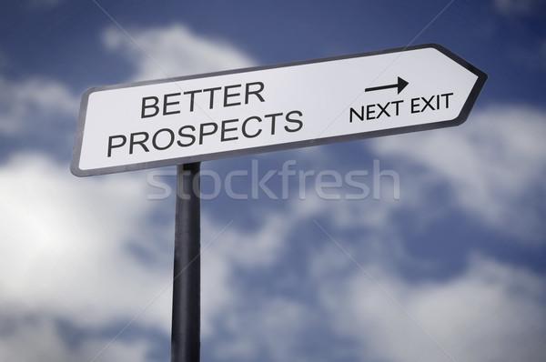лучше улице подписать указывая бизнеса улице знак Сток-фото © unikpix
