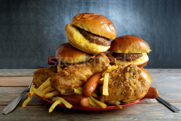 Diety ogromny tablicy frytki Zdjęcia stock © unikpix