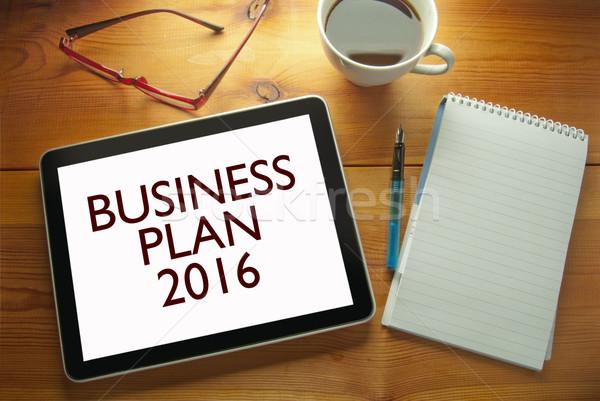 Business plan 2016 Stock photo © unikpix