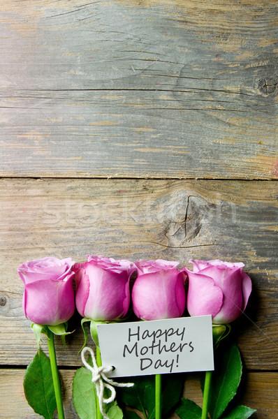 день подарок цветы розовый Сток-фото © unikpix
