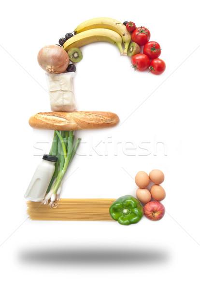 Pond teken voedsel kruidenier winkelen Stockfoto © unikpix