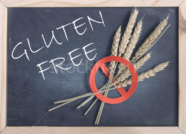 Glutensiz tahta kırmızı evrensel Stok fotoğraf © unikpix