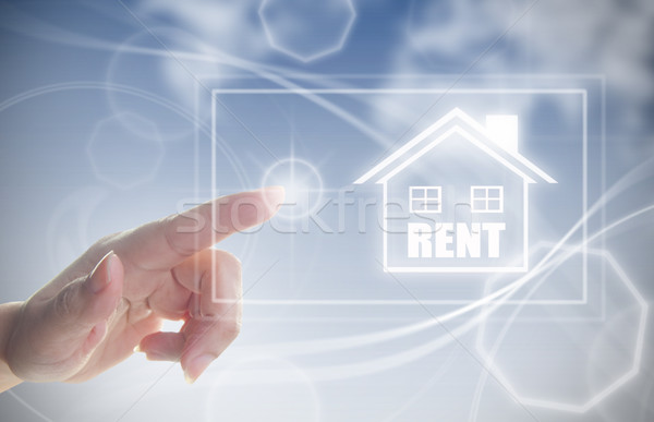 Hand clicking on rental house Stock photo © unikpix
