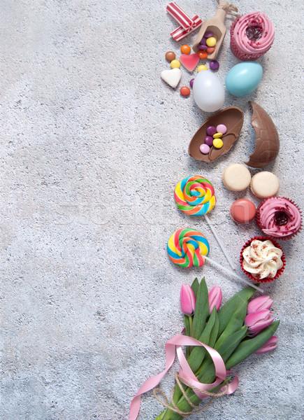 Húsvét pékség ételek cukrászda űr édesség Stock fotó © unikpix