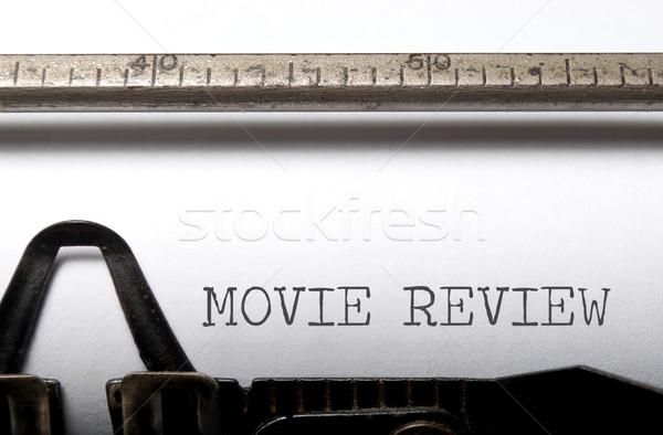 Filme mover vintage máquina de escrever filme retro Foto stock © unikpix