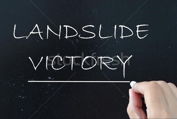 Landslide victory Stock photo © unikpix