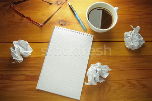 Bloco de notas cópia espaço para cima peças papel Foto stock © unikpix
