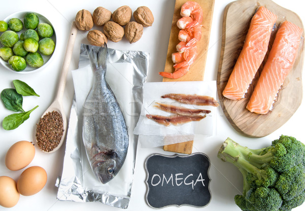 омега жирный кислота продовольствие богатых Сток-фото © unikpix