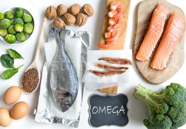 Omega graso ácido alimentos ricos Foto stock © unikpix