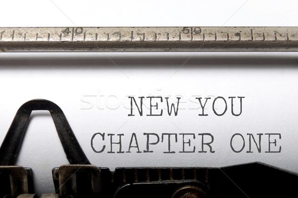 Nuevos capítulo uno principios impreso edad Foto stock © unikpix