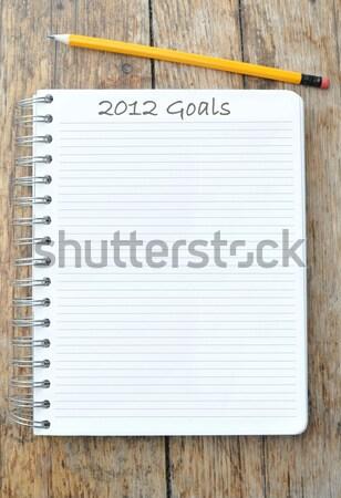 Notatnika spirali Uwaga działalności papieru książki Zdjęcia stock © unikpix