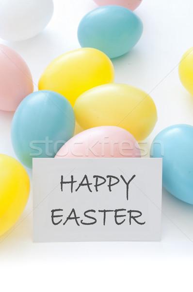 Easter eggs background Stock photo © unikpix