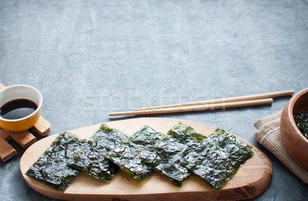 Dried seaweed wafers asian cuisine Stock photo © unikpix