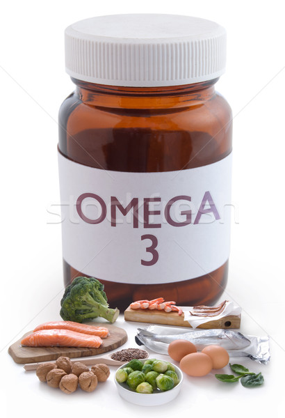 Stock photo: Omega 3 pills concept