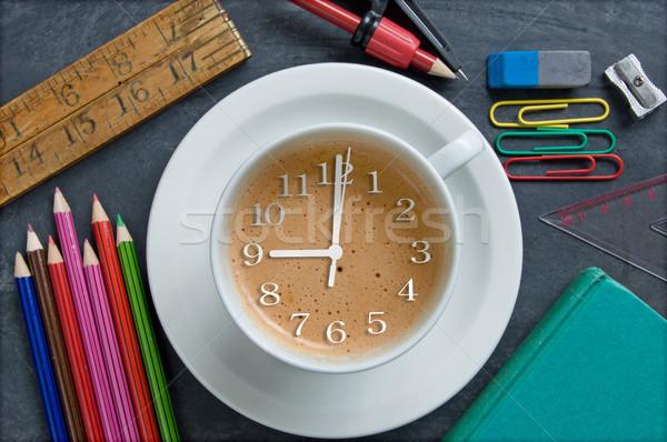 çalışma zaman okula geri saat eller içinde Stok fotoğraf © unikpix