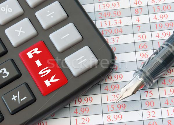 Управление рисками ключевые калькулятор риск данные Сток-фото © unikpix