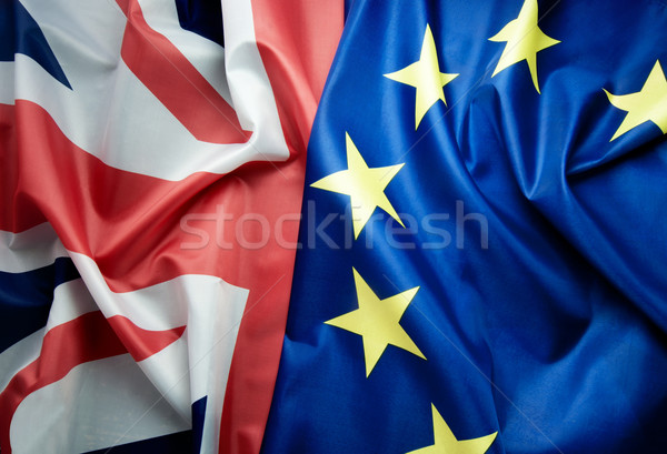 British and European flags Brexit concept  Stock photo © unikpix