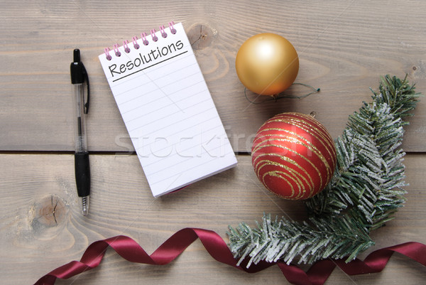 New years resolutions list Stock photo © unikpix