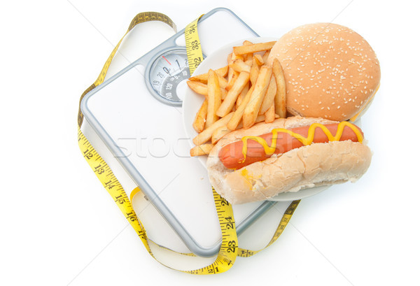 Weighing scales bad diet  Stock photo © unikpix
