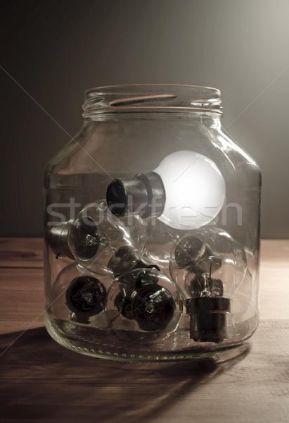 電球 ガラス jarファイル ストックフォト © unikpix