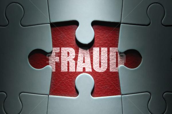 Fraude segurança desaparecido peça palavra Foto stock © unikpix