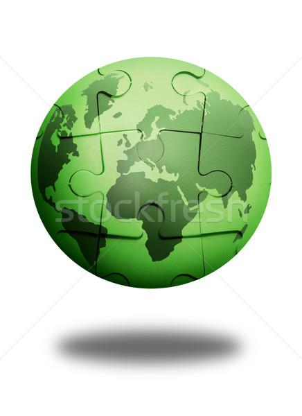Earth puzzle  Stock photo © unikpix