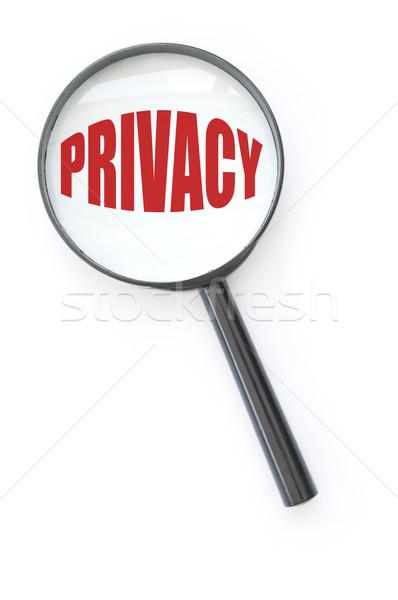 Magánélet nagyító fókuszált szó biztonság törvény Stock fotó © unikpix